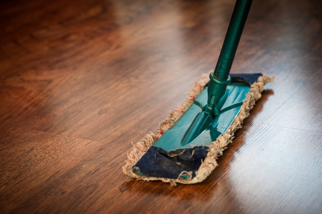 Mop On A Wood Floor Cleaning